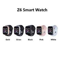 nuevo teléfono con tarjeta al por mayor-Nuevo reloj Z6 Smartwatch lanzado para Iphone Smart Watch Bluetooth 3.0 Relojes con cámara compatible con tarjeta SIM TF para Android Smart Phone