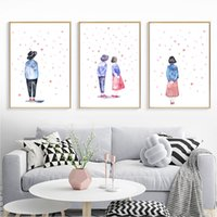 Wholesale art lover painting for sale - Group buy Abstract Young Lovers Posters And Prints Wall Art Canvas Painting Wall Pictures For Living Room Decor Poster Decoration