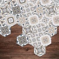 ingrosso adesivi di arte del bagno-Adesivi per pavimenti Fai da te antiscivolo autoadesivi impermeabili Wall Art per bagno in hotel PVC Wallpaper Decal Home Tile Adesivo per cucina