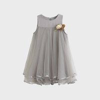 мода красота дети оптовых-новорожденных девочек платья принцесса платье цветок мода красота дети девушка цветочные юбка летняя одежда без рукавов выстроились 3-7 Т высокое качество