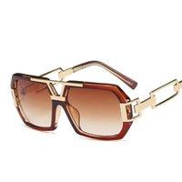 большие квадратные очки оптовых-Солнцезащитные очки с большой оправой Mens Designer Fashion Punk Square Солнцезащитные очки для женщин Мужские солнцезащитные очки Солнцезащитные очки Gradient Eyewear Gafas De Sol