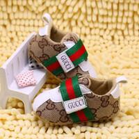 en sıcak bebek ayakkabıları toptan satış-SıCAK! Moda Marka Bebek Erkek Kız İlk Walkers Bebek Kapalı kaymaz Toddler Ayakkabı