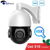 cctv zoom câmeras ao ar livre venda por atacado-PoE Mini Medium Speed Dome Camera 4 polegadas HD 5MP 40X Zoom PTZ Câmera IP P2P ONVIF 5.0MP CCTV Segurança Vigilância