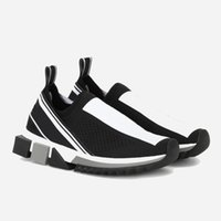 damen-mode-trikots großhandel-Luxusmode Sorrento Sneaker Mens Designer Schuhe Stoff Stretch Jersey Slip-On Sneaker Dame Zwei-Ton Gummi Micro Sole Casual Schuhe 12