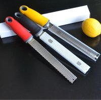 Wholesale stainless kitchen tools resale online - Citrus Lemon Zester Cheese Grater Parmesan Cheese Lemon Vegetables Razor sharp Stainless Steel Blade Protective Cover Kitchen Tools YP573