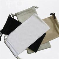 su geçirmez plastik telefon çantası toptan satış-Toptan su geçirmez deri plastik güneş kılıfı yumuşak gözlükler çanta gözlük durumda Rastgele renk Yüksek Kalite Saklama çantası cep telefonu