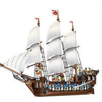 Wholesale plastic toy boats for kids for sale - Group buy Imperial flagship bricks boat model Movie Series Pirates Of Caribbean Ship Toys Building Blocks for kids gifts SH190915