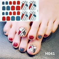 ingrosso le coperture del chiodo delle punte-Lamemoria 22 Tips / Sheet Toe Nail Sticker Moda di lunga durata Toe Nail Wraps Art Full Cover Adesivi in lamina adesiva Manicure