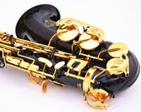 саксофон-саксофон оптовых-SUZUKI Новое Прибытие Альт Eb Tune Saxophone Высокое Качество Музыкальный Инструмент Латунь Черный Никель Золото Саксофон с Случае Бесплатная Доставка