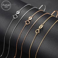 Wholesale costs chain for sale - Group buy Aazuo K White Yellow Rose Gold Link Chain inches Au750 Cost Price Necklace Pendant Wendding Party Gift For Women