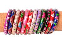 Wholesale chinese alloy bangle resale online - Chinese Crafts Cloisonne Enamel Bangle Bracelet Children Charming Alloy Ethnic Bracelets Version Jewelry