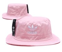 Wholesale wide brimmed golf hats women resale online - Top Sale AD Letter Bucket Hat For Mens Womens Foldable Caps Fisherman Beach Sun Visor Sale Folding Man casquette Bowler Cap