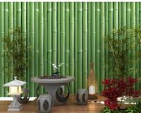 papel pintado mariposa para diseños de paredes al por mayor-Nuevo Estilo Pastoral Romántico Estilo Fresco Diseño de Bambú Mariposa Mural Papel de Pared 3D No tejido Papel de Papel