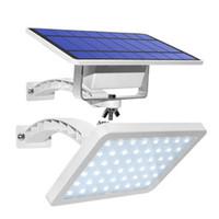 luces verdes de jardinería solar al por mayor-Envío libre impermeable Spotlight Potente LED solar al aire libre de la pared con los paneles solares de batería solar para el exterior Dacha