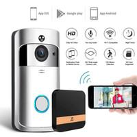 ingrosso campanelli wireless impermeabili-Nuovo Wireless WiFi campanello della porta IR visiva HD Smart Camera Anello impermeabile sistema di sicurezza Wi-Fi Wireless Video campanello Smart Phone citofono
