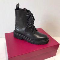 verkauf stiefel bestickt groihandel-Heißer Verkauf- Frauen Schuhe Mode britischen Boots-runde Zehe Martin Boots Buckle Strap Chunky Heel Runde Zehe-Mode Gestickte Ankle Boots