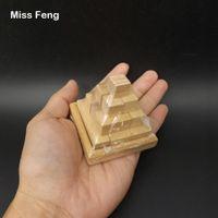 yığın oyunu toptan satış-B264 / Küçük Ahşap Piramit Küp Bulmaca Yığını Brian Zihin Oyuncaklar Zeka Oyunu Oyuncaklar Çocuklar Için