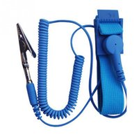 ic clips venda por atacado-Venda por atacado- Cordless sem fio clipe antiestático anti estático pulseira ESD Wrist Strap cabos de descarga para eletricista IC PLCC workerNote: