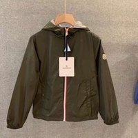çocuk paltosu deseni toptan satış-Yeni Desen Bahar Sonbahar Tasarımcı Marka M Popüler Giysiler Çocuklar Hoodies Ceket Saf Pamuk Açık Rüzgar Geçirmez Fermuar Erkek Ceket