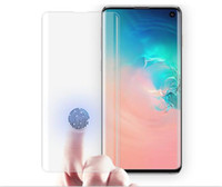 Wholesale 3d glasses new resale online - New For S10 G VERSION for Samsung Galaxy S10 S9 S9 Plus S10E S7 edge D Full Coverage fingerprint unclock NO HOLE Tempered Glass Screen