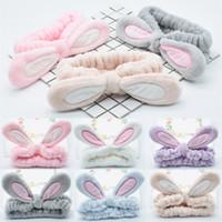 verstellbare baumwollstirnbänder großhandel-Hot Elastic Cotton Einstellbare Cross Stirnband für Frauen Wash Face Stoffe Solid Ear Haarband