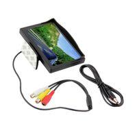 mini tft lcd al por mayor-5 pulgadas a color TFT LCD Mini coche vista trasera monitor de estacionamiento retrovisor pantalla para DVD VCD cámara inversa envío gratis