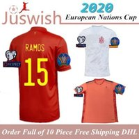 Wholesale spain morata jersey resale online - Camiseta España Spain Jersey Home Soccer Jerseys MORATA THIAGO RAMOS camiseta de españa TOP Quality Football Shirt