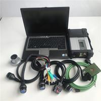 automotive engine analyzer software großhandel-DHL-freies MB Star C5-Diagnosetool SD Connect C5 für MB-Pkw-Lkw mit Software auf 320-GB-Festplatte unterstützt alte Autos + D630-Laptop