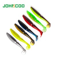Wholesale soft lures shad resale online - JOHNCOO NEW Lures for Fishing mm g mm g Artificial Bait Soft Lure One Up Shad Easy Shiner Blackbass pike Zander