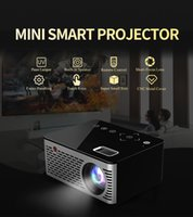 jugador de teclas al por mayor-T200 Mini proyector LCD portátil Proyectores HDMI USB HD Beamer Home Media Player Video Altavoz incorporado Teclas táctiles