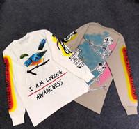 o hoodie dos homens s camiseta venda por atacado-Kanye West CRIANÇAS VER GHOSTS Hoodie Reunindo Homens de manga comprida T-shirt Hiphop Streetwear Moda T-shirt Pullover S-XL