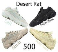 yeni yardımcı kutu toptan satış-Kutu ile yeni 2019 Koşu Ayakkabıları 500 Allık Programı Siyah Süper Ay Tuz Yardımcı Erkekler için Siyah Marka Tasarımcısı Spor Ayakkabı Boyutu US5-11.5