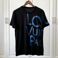 büyük erkekler tee toptan satış-Tasarımcı Marka Erkek T Shirt Lüks Tshirt Moda Klasik Büyük Mektup V @ L Baskı T-Shirt Giyim Rahat Pamuk Tee Tops 2019 ilkbahar yaz