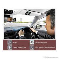 Wholesale clip sun visors for cars resale online - Bluetooth Car Kit Handsfree Noise Cancelling Bluetooth V4 Receiver Car Speakerphone Multipoint Clip Sun Visor for two Phones