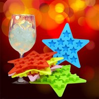 Wholesale star silicone mould resale online - Five Pointed Star Silicone Mould Environmental Protection Chocolates Ice Pudding Moulds Creative Tray Pudding Tool ice maker