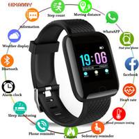 mujer reloj gps tracker al por mayor-2019 el reloj de manera inteligente Hombres Mujeres Presión arterial impermeable monitor de ritmo cardíaco rastreador de ejercicios GPS del reloj del deporte para Android