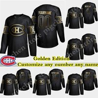 Wholesale canadiens jersey numbers for sale - Group buy Golden Edition Montreal Canadiens jersey Weber Carey Price Brendan Gallagher Max Domi Customize any number any name Hockey Jersyes