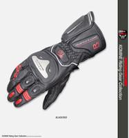 guantes de moto de titanio al por mayor-Guantes Komine GK-169 Titanium Racing de protección de la moto de motocross motocicleta Moto Touring Guantes Negro Rojo
