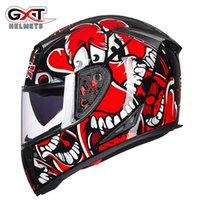 GXT Motorcycle Helmet Full Face Double Lens Anti-fog Snowmobile Helmets DOT