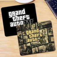 maus mousepad großhandel-Grand Theft Auto Gaming Mouse Pad Computer-Gamer Mousepad Spiel Gummi Mauspad Mause Pad für PC Laptop