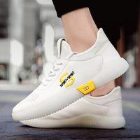 sapatas running do estilo coreano venda por atacado-Masculino estilo Tamanho Grande Sneakers Men-coreano respirável malha calçados esportivos Running Shoes 2019 Esporte Primavera / Outono Sapatos