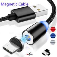 cable magnético usb tipo c al por mayor-USB magnética Cable de carga rápida Cable USB Tipo C Imán del cargador del cable de datos de carga micro del cable de teléfono móvil