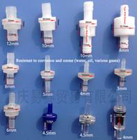 válvula de presión de aceite al por mayor-Resistente al aceite válvula de retención de plástico anti ozono Water Stop válvulas de agua transparente recta a través de válvulas de presión con o sin Barb