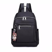 sacos de escola de designer para adolescentes venda por atacado-Designer de moda Nylon Mulheres Mochila Grande Ocasional Zipper Saco de Escola Para Meninas Adolescentes Saco de Viagem Feminino Luz Bagpack Mochila J190528