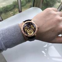 edelstahl herren große größe uhr groihandel-NewFashion Brown Mens Leather Damen Business Schwarz Uhren Edelstahl Female Designer Watch Einfache Big Size Watch Ring versandkostenfrei