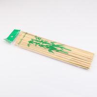 varas de espeto de bambu venda por atacado-2000 peças 30 * 0.3cm Natural Bamboo Skewers Sticks Escolhas churrasco Barbeque Fruit Kabob Kebab Fondue Grelhar vara Skewer de alimentação descartável