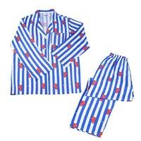 junge koreanische niedliche karikatur großhandel-KPOP BTS Frauen Nachtwäsche Korean Fashion Bangtan Jungen BT21 Cartoon Shirts Und Hosen Zweiteiler Niedlichen Pyjamas Nachtwäsche Homewear