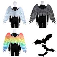 anjos tece venda por atacado-Mardi Gras Grandes Águias Asas Traje Não Tecidos Anjo Asa de anjo Adulto Carnaval Fancy Costume party Supplies T2I5328