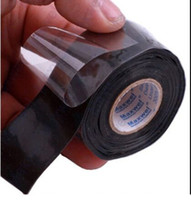 Wholesale silicone hose black resale online - New Waterproof Silicone Performance Repair Tape Bonding Rescue Self Fusing Wire Hose Black Sell Hotting Transparent Film