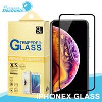 precio protector de pantalla de cristal templado al por mayor-Para iphone X XS MAX XR 2.5D Protector de pantalla de cristal templado de cubierta completa Para Iphone 8 8 más 7 6 más el precio de la masa que el cristal templado 5D